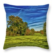 An Autumn Golf Day Throw Pillow