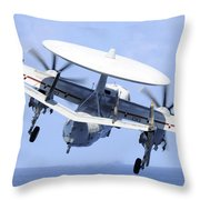 An E-2c Hawkeye Launches Throw Pillow