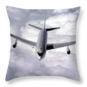 An E-8c Joint Surveillance Target Throw Pillow