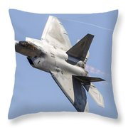 An F-22a Raptor Of The U.s. Air Force Throw Pillow