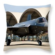 An F-35 Lightning II Taxiing At Eglin Throw Pillow
