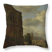 An Imaginary View Of Nijenrode Castle Throw Pillow