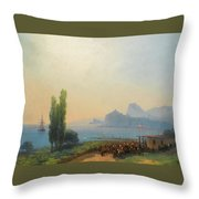 An Imperial Welcome At Sudak Throw Pillow