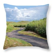 An Inviting Path Throw Pillow