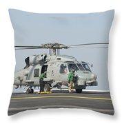 An Mh-60r Seahawk Embarked Aboard Uss Throw Pillow