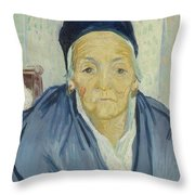 An Old Woman Of Arles Arles, February 1888 Vincent Van Gogh 1853 - 1890 Throw Pillow
