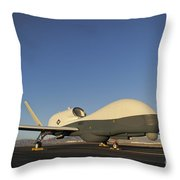 An Rq-4 Global Hawk Unmanned Aerial Throw Pillow