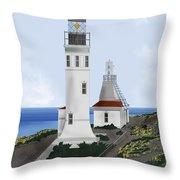 Anacapa Lighthouse California Throw Pillow
