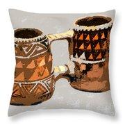 Anasazi Double Mug Throw Pillow