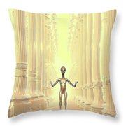 Ancient Alien Angel Throw Pillow