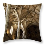 Lisbon Cathedral's Ancient Arches  Throw Pillow