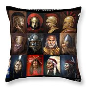 Ancient Warriors Throw Pillow