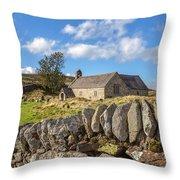 Ancient Welsh Church Throw Pillow