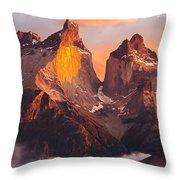Andes Mountains Throw Pillow