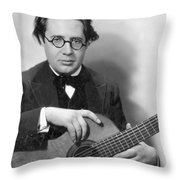Andres Segovia Throw Pillow by Granger