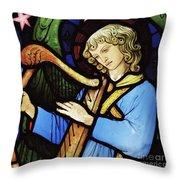 Angel Musician, 1881 Throw Pillow