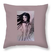 A Feather In The Wind Throw Pillow
