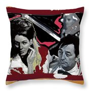 Angie Dickinson Robert Mitchum Pose Collage Young Billy Young Old Tucson Arizona 1968-2013 Throw Pillow