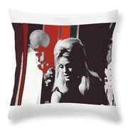 Angie Dickinson Young Billy Young 4 Old Tucson Arizona 1968-2014 Throw Pillow