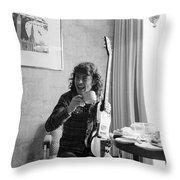 Angus Young Ac/dc Throw Pillow