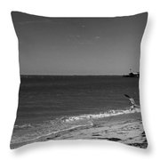 Anna Maria Shoreline Throw Pillow