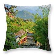 Annapurna Village Throw Pillow