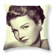 Anne Baxter, Vintage Actress Throw Pillow