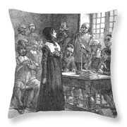 Anne Hutchinson (1591-1643) Throw Pillow