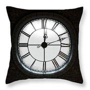 Antique Backlit Clock Throw Pillow