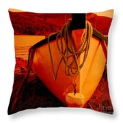 Antique Bow And Rope Throw Pillow
