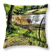 Antique Farm Equipment 1 Throw Pillow