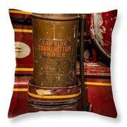 Antique Fire Extinguisher Throw Pillow