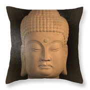antique oil effect Buddha Korean ,, Throw Pillow