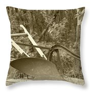 Antique One Share Plow Throw Pillow