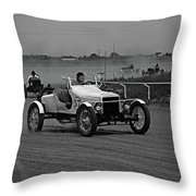 Antique Races Black And White Throw Pillow