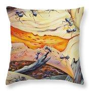 Ants Landscape Throw Pillow