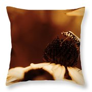 Anyone Else Down There - Gold Throw Pillow