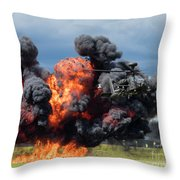Boeing Apache Longbow  Helicopter Exercise Throw Pillow