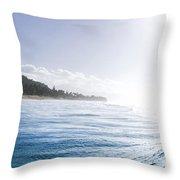 Aqua Ramp - Triptych Part 2 Of 3. Throw Pillow