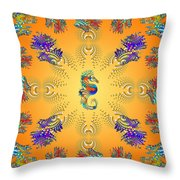 Aquarium Glow Oranges Throw Pillow