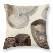 Aquatic Animals - Sea - Shells - Composition - Alien - Wall Art  - Interior Decoration  Throw Pillow