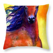 Arabian Horse 1 Painting Throw Pillow