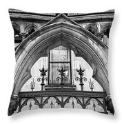 Arches In Front Of The Courts Throw Pillow