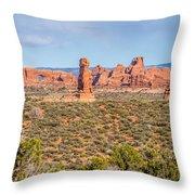 Arches National Park  Moab  Utah  Usa Throw Pillow