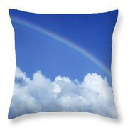Arching Rainbow Throw Pillow