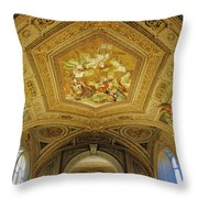 Architectural Artistry Within The Vatican Museum In The Vatican City Throw Pillow