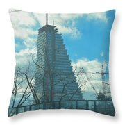 Architectural Skies Throw Pillow