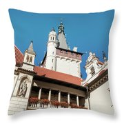 Architecture Details Of Pruhonice Castle Throw Pillow