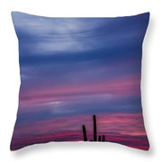 Arizona Desert Sunset Throw Pillow
