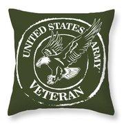 Army Veteran Throw Pillow